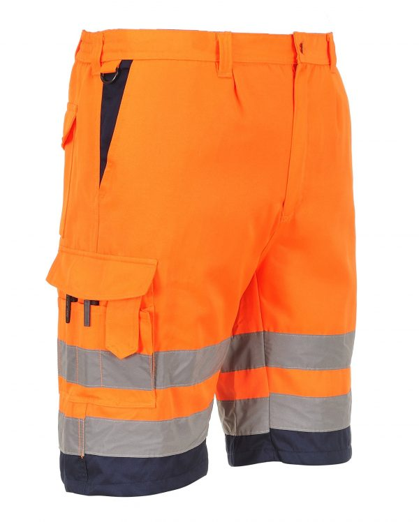 Portwest ANSI Class E High Visibility Shorts, Orange 4