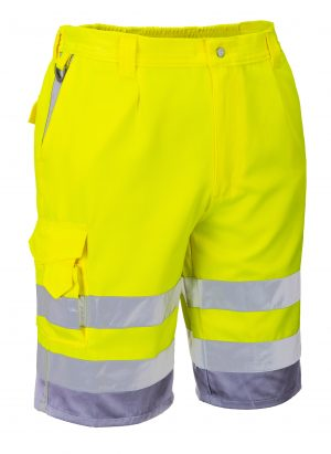 Portwest ANSI Class E High Visibility Shorts, Side