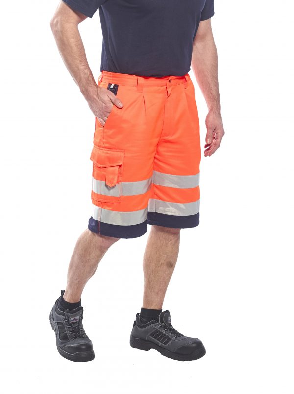Portwest ANSI Class E High Visibility Shorts, Orange