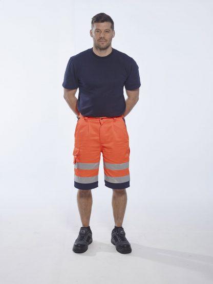 Portwest ANSI Class E High Visibility Shorts, Orange 2