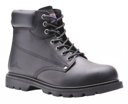Portwest FW16 Steellite Welted Safety Boot, Black Leather Steel Toe