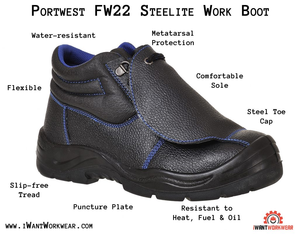 7de5ee92f9d Portwest FW22 Steelite Metatarsal Work Boot, Black