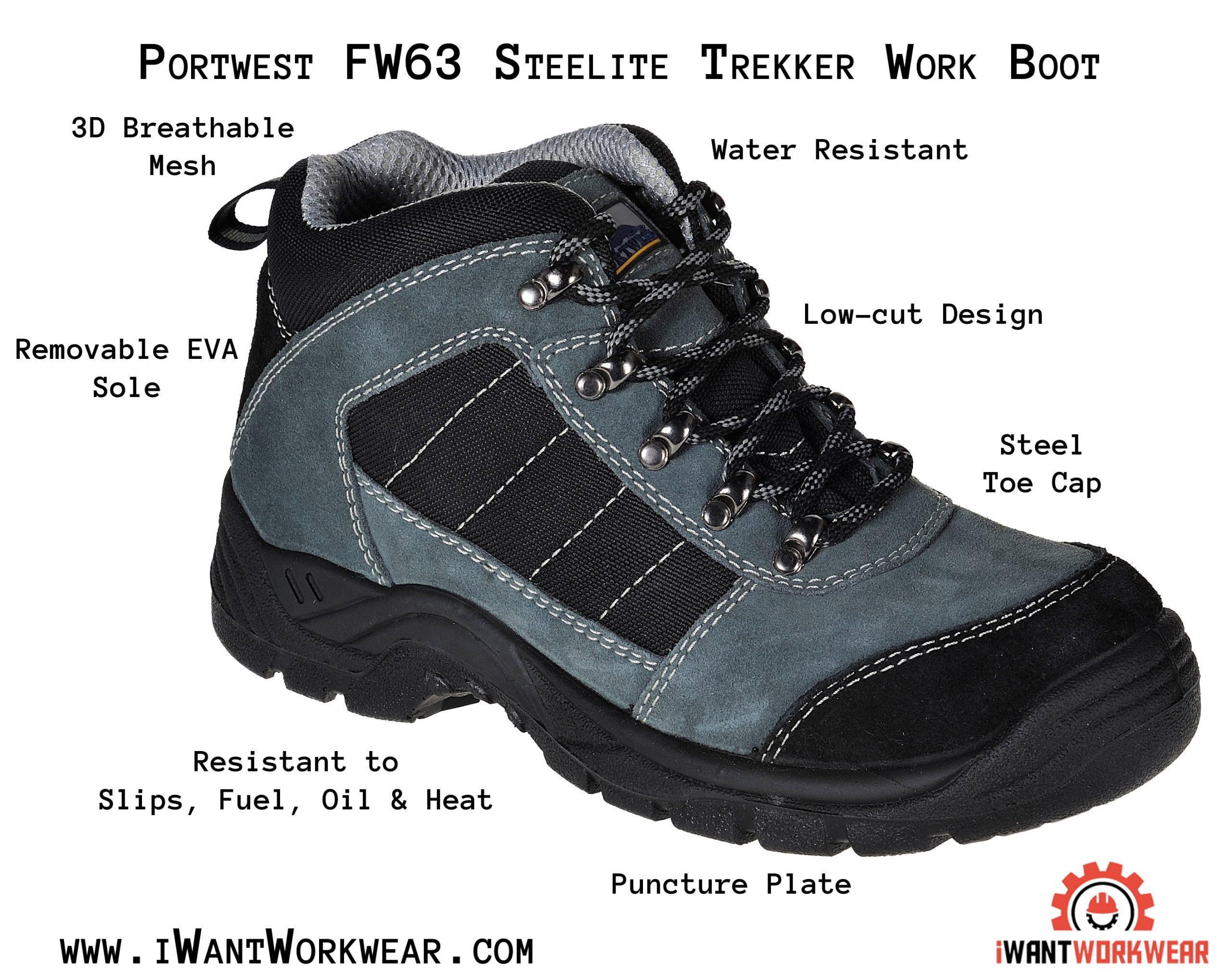 Portwest FW63 Steelite Trekker Steel