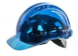 Portwest PV50 PEAKVIEW Transparent Hard Hat, Blue