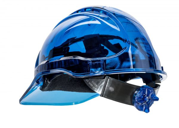 PEAK VIEW RATCHET HARD HAT VENTED - PV60, BLUE