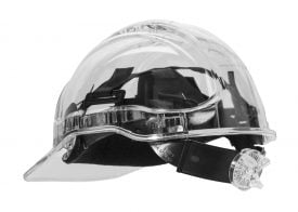 PEAK VIEW RATCHET HARD HAT VENTED - PV60, CLEAR
