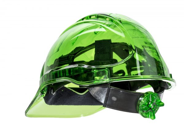 PEAK VIEW RATCHET HARD HAT VENTED - PV60, GREEN
