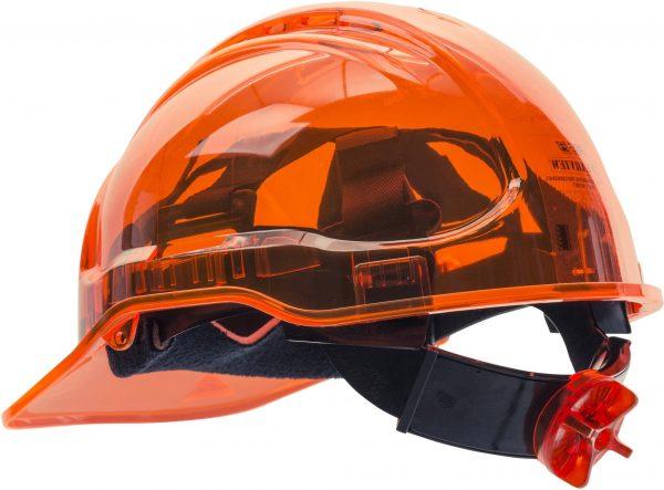PEAK VIEW RATCHET HARD HAT VENTED - PV60, ORANGE