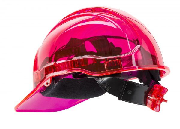 PEAK VIEW RATCHET HARD HAT VENTED - PV60, PINK