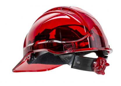 PEAK VIEW RATCHET HARD HAT VENTED - PV60, RED