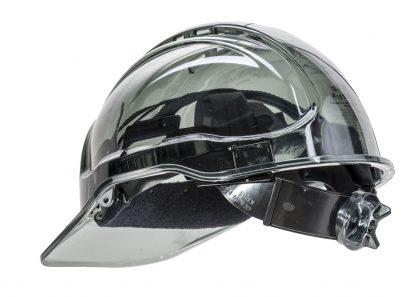 PEAK VIEW RATCHET HARD HAT VENTED - PV60, SMOKE