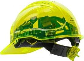 PEAK VIEW RATCHET HARD HAT VENTED - PV60, YELLOW