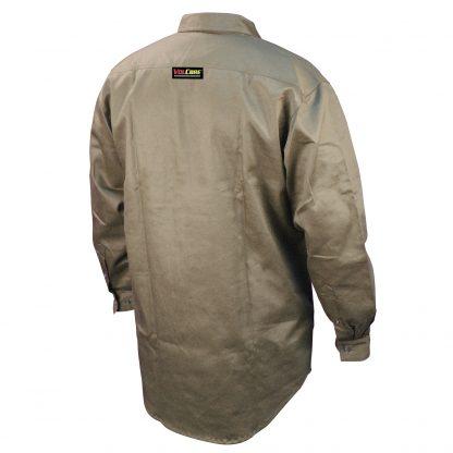 FRS-001 VOLCORE™ LONG SLEEVE BUTTON DOWN FR SHIRT, BackKhaki