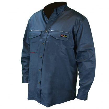 FRS-001 VOLCORE™ LONG SLEEVE BUTTON DOWN FR SHIRT, Front Blue