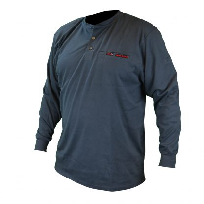 FRS-002 VOLCORE™ LONG SLEEVE COTTON HENLEY FR SHIRT, Navy Blue, Front