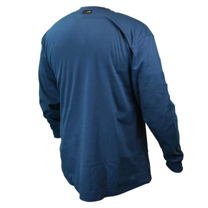 FRS-002 VOLCORE™ LONG SLEEVE COTTON HENLEY FR SHIRT, Navy Blue, Back