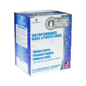 Radians LCD100 Len Cleaning Towelettes, 100 Pack, Individually Wrapped