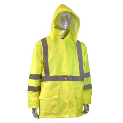 RADIANS RW10-3S1Y LIGHTWEIGHT RAIN JACKET, yellow front