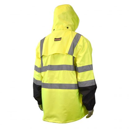 Radians RW30 High Visibility Class 3 Rain Jacket, multi purpose back