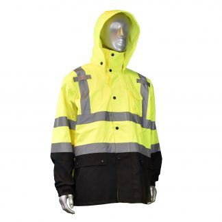 Radians RW30 High Visibility Class 3 Rain Jacket, multi purpose