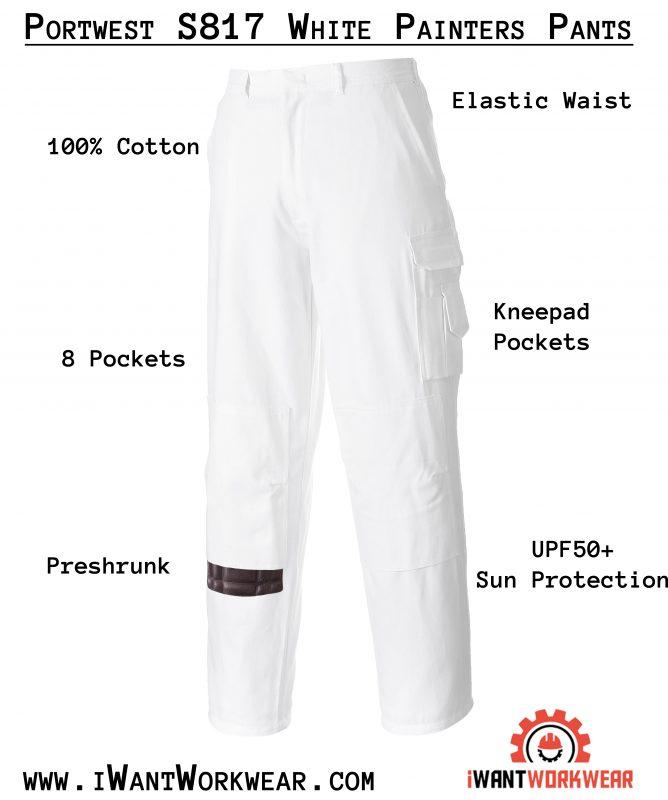 Portwest S817 100% Cotton Painters Pants