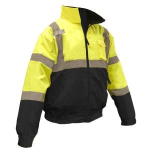 reflective jacket, sj11b-3zgs radians, yellow, front