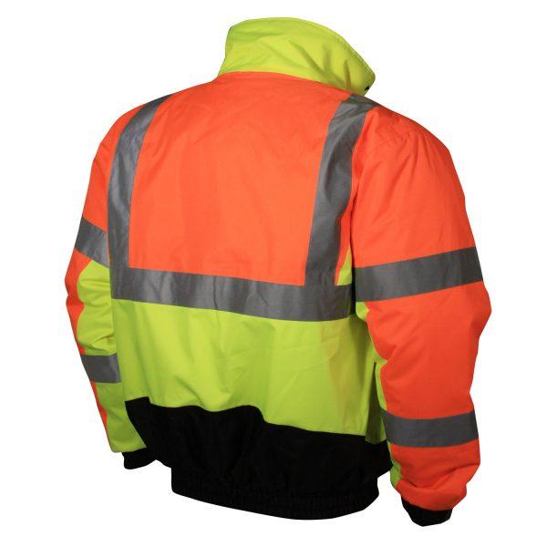 Reflective Jacket, Multi-color Safety Bomber, Radians SJ12, Back