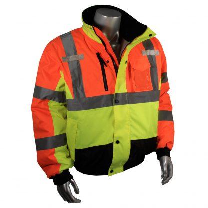 Reflective Jacket, Multi-color Safety Bomber, Radians SJ12, Front