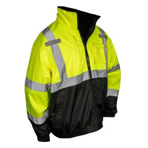 Reflective Safety Jacket, High Visibility Yellow, Front
