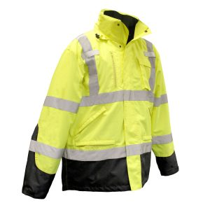 Safety jacket Radians SJ410B 3 Three-in-One Weatherproof Parka RADIANS SJ410B 3 THREE-IN-ONE WEATHERPROOF PARKA front