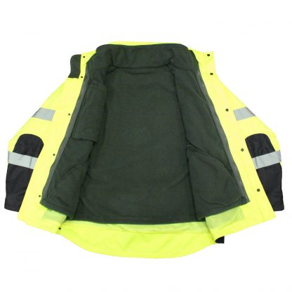 Safety jacket Radians SJ410B 3 Three-in-One Weatherproof Parka RADIANS SJ410B 3 THREE-IN-ONE WEATHERPROOF PARKA interior with fleece