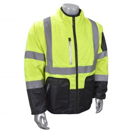 Radians SJ510 hi vis jacket, 4-in-1 insulated coat, removeable sleeves, front