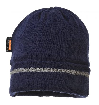 Portwest Insulated Reflective Beanie, Navy