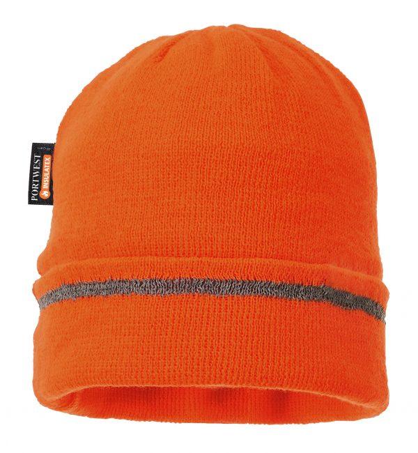 Portwest Insulated Reflective Beanie, Orange