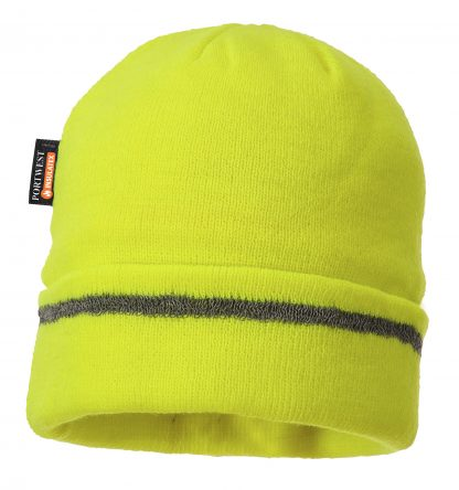 Portwest Insulated Reflective Beanie, Yellow