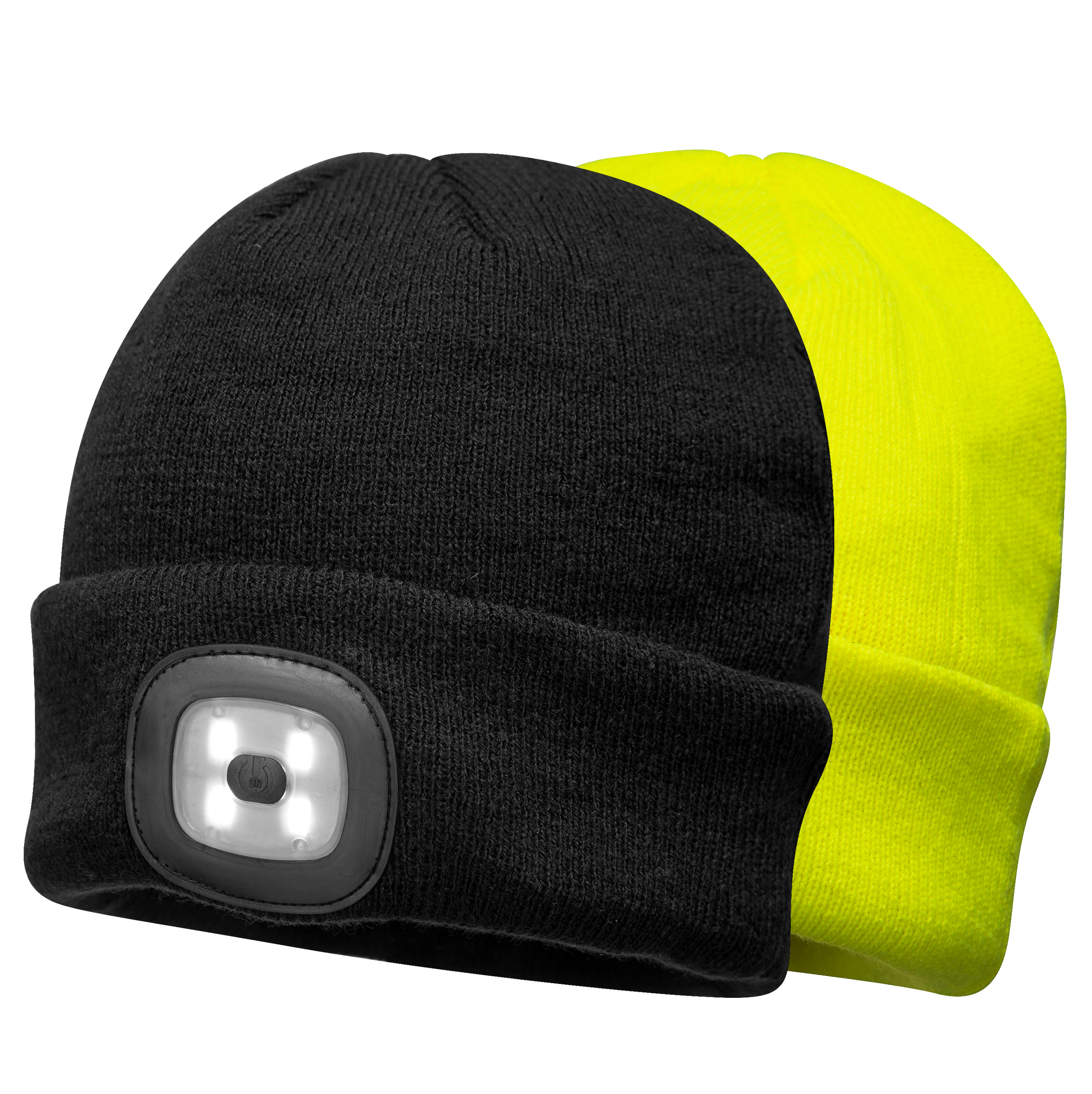 f7e17ecb Portwest B029 Rechargeable USB LED Winter Cap, yellow and black