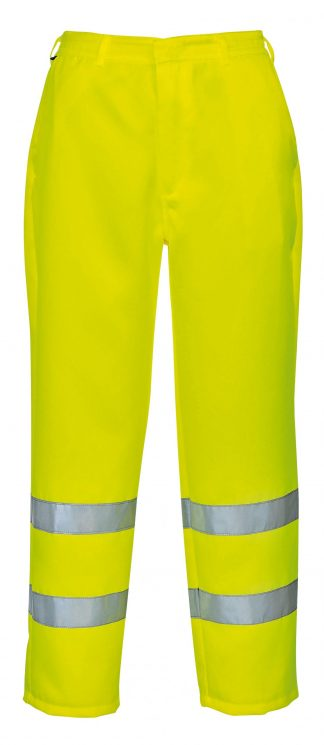High Visibility Polycotton Pants, Yellow