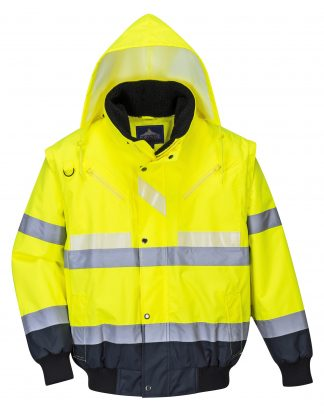 Portwest G465 Glow-in-the-dark High Visibility 3-in-1 Bomber Jacket, 2