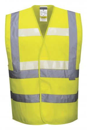 Portwest G470 Glowtex Triple Technology High Visibility Vest, Yellow