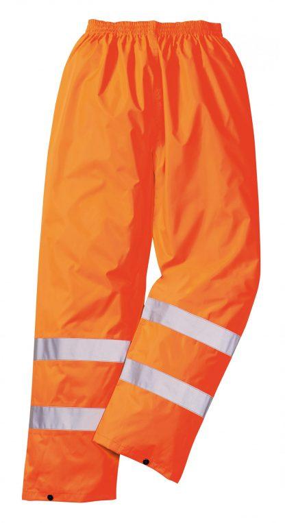 Portwest H441 High Visibility Orange Unisex Rain Pants, Reflective