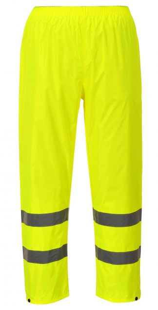 Portwest H441 High Visibility Yellow Unisex Rain Pants, Reflective