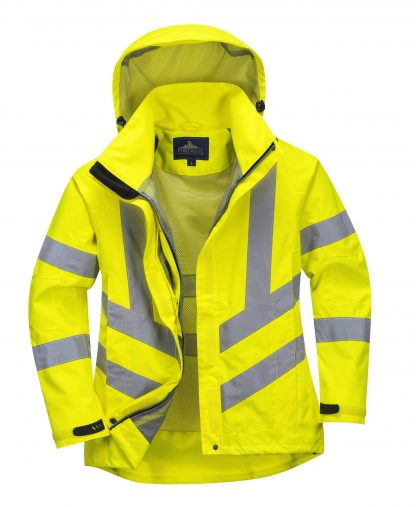 Portwest Lw70 Women's High Visibility Safety Jacket, Mesh Lining
