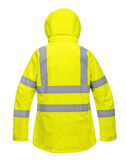 Portwest Lw70 Women's High Visibility Safety Jacket, Yellow rear