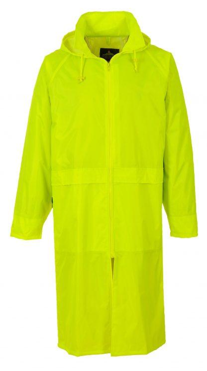 Portwest S438 Classic Navy Rain Coat, Yellow