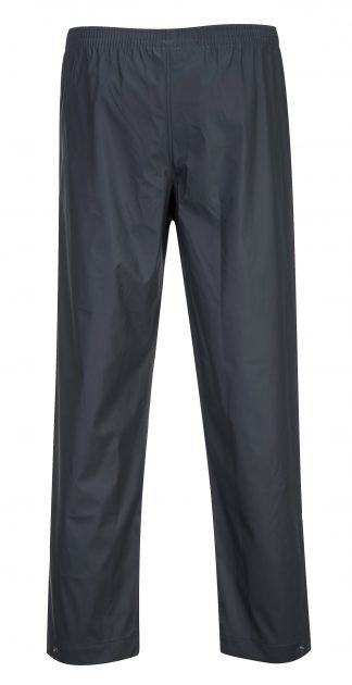 Portwest S451 Classic Navy Waterproof Rain Pants, Rear