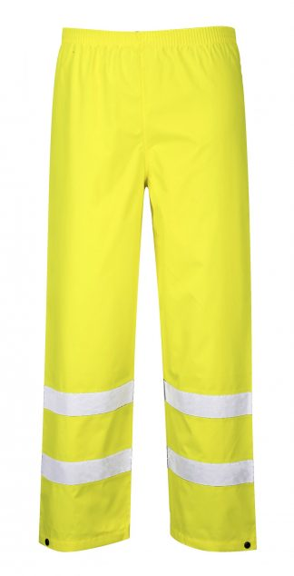 Portwest S480 High Visibility Rain Pants, Yellow