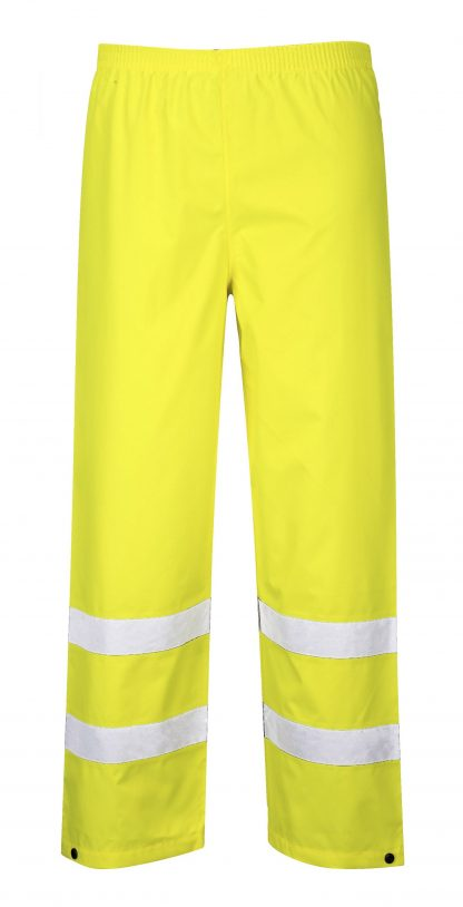 Portwest S480 High Visibility Rain Pants, Yellow