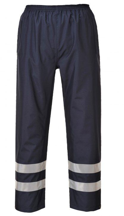 Portwest Unisex Iona Lite Reflective Rain Pants, front