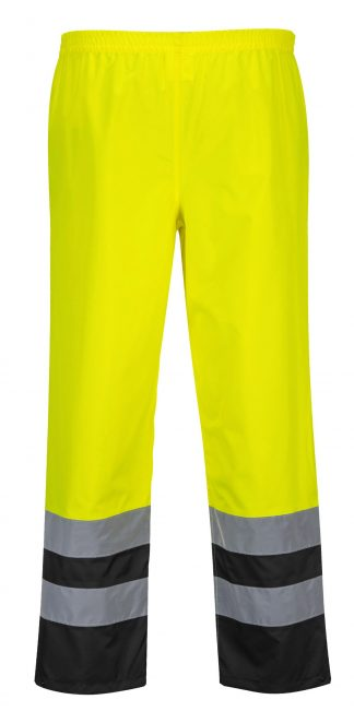 Portwest S486 High Visibility Rain Pants, Unisex, Yellow 2