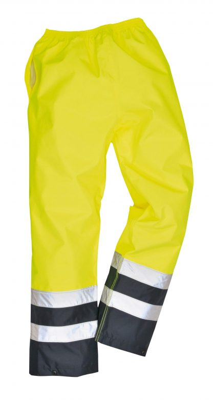Portwest S486 High Visibility Rain Pants, Unisex, Yellow